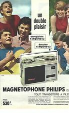 PUBLICITE ADVERTISING  1960  PHILIPS magnetophone