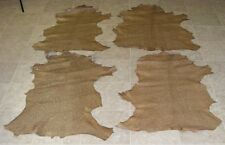 Xva6738-1) Lot of 4 Hides of Light Brown Printed Lambskin Leather Hides Skin