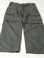 BOYS MOUNTAIN WAREHOUSE AGE 7-8 YEARS GREY DETACHABLE LEGS SHORTS/TROUSERS