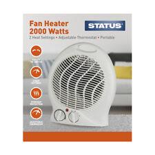 Upright Fan Heater, 2000 W, Portable, White in Status Glossy Box
