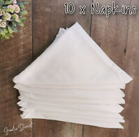 Set of 10 British Airways Napkins Club World Linen Napkins, 50x50cm White, 10pcs