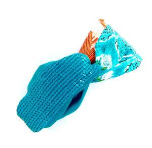 Joshipura Batik Headband in Blue, Green, Yellow, and Orange