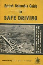 BRITISH COLUMBIA Canada - Guide To Safe Driving (Driver's Handbook) VINTAGE !!!