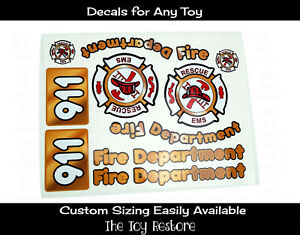 Fire Truck Decal Stickers Engine for Little Tikes Custom  Cozy Coupe Car Toy