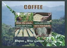 PAPUA NEW GUINEA 2010 COFFEE SHEETLET OF 4  UNMOUNTED MINT,MNH