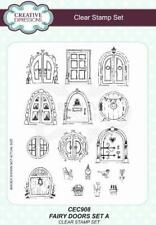 CREATIVE EXPRESSIONS A5 Clear Stamp Set FAIRY DOORS Set A CEC908 17 Stamps