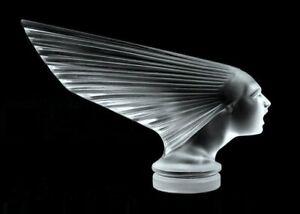 Art Deco Art Glass Figurine 'Victoire' Hood Ornament 1930' H.Hoffmann by Lalique