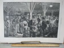 Vintage Print,VIEW IRON PIES,Coney Island,Harpers,1882