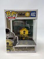 NEW Funko Pop #482 Fallout 76 Excavator Armor Vinyl Figure FP20