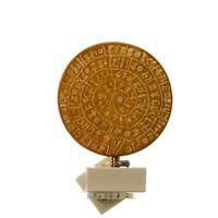 "Minoan Phaistos Disc Handmade Greek Art Museum Replica 5.1"" 13x10cm"