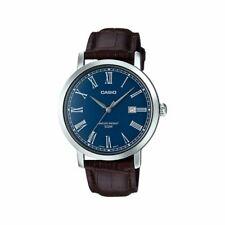 Casio MTP-E149L-2B Original Nuevo Cuero Banda Analogico Reloj de Hombre 50M Wr
