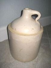 Vintage Unmarked STONEWARE Ceramic Whiskey Liquid Water Jug Crock Pottery USED