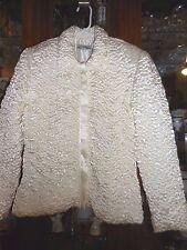 Joseph Ribkoff FAB Elegant puckered 10 L Cream Ivory Zipper TOP JACKET