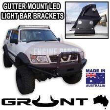 GRUNT 4x4 50 inch LED Light Bar Gutter Mount Brackets Nissan Patrol GU 1997-2016