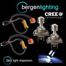 2x H4 Blanco 4 LED CREE Delante Luz De Marcha & cruce xenón faros hm503301