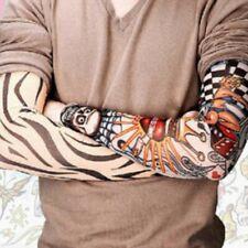 8pz Maniche Manicotti Moda Tattoo Tatuaggio Finto Elasticizzate Uomo Bo fgh