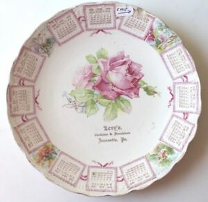 1908 LEVY'S CLOTHIERS & FURNISHERS ADVERTISING CALENDAR PLATE JEANNETTE, PA