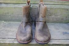 Clarks Leather Biker Boots, Brown, Men's Size 11.5M, Used, Good Condition