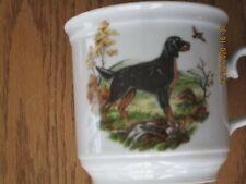 Vtg Gordon Setter Hunting Dog Porcelain Mug Cup Schumann Bavaria Germany Excelnt