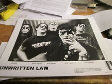 Unwritten Law Promotion Photo Vintage 90'S Promo Shot 8 X 10 Collectable