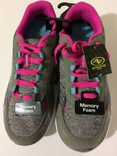 Athletic Works Girl's Athletic Memory Foam Insole Lightweight Shoes Size 6 NEW