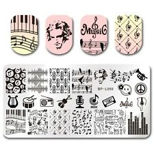 BORN PRETTY Nail Art Stamp Plate Manicure Image Template DIY Music Design BPL-59