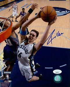 Pau Gasol Memphis Grizzlies Signed 8x10 Glossy Photo JSA Authenticated