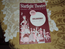 1954 STARLIGHT THEATER  PROGRAM OKLAHOMA K.C.MO.