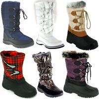 Damen Winterstiefel Galosche Schneeschuhe Stiefel Mädchen Schuhe gefüttert NEU