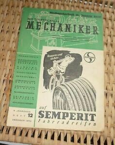 der österreichische MECHANIKER SEMPERIT Heft 12 1952