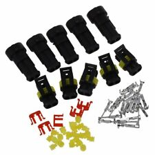 5 Kit Conector sellado 2 Pins Impermeable Electrico Cable Enchufe V4D6