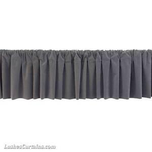 Window Treatments Gray Rod Pocket Curtain Topper Velvet Valance Panel Drapery