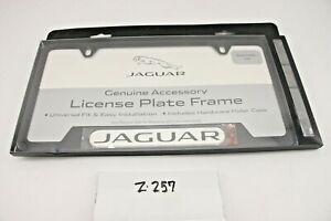 New OEM Jaguar Black License Plate Frame Powder Coated C2A1175 Genuine Jag