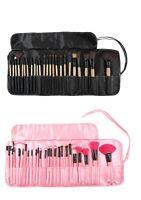 Professional 24 pcs Kabuki Make Up Brush Set & Cosmetic Brushes Bag