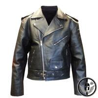Mens American Genuine Leather Motorcycle Brando Perfecto Leather Biker Jacket