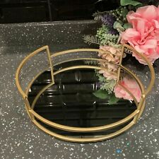 25cm round gold mirror candle tray plate wedding table decorative mirror tray