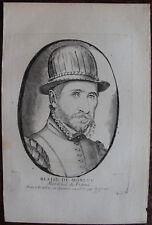 BLAISE DE MONTLUC MARECHAL DE FRANCE ( 1550-1577), PORTRAIT