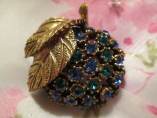 Vintage Sig JEANNE ca 1950's Sparkly Crystal Rhinestone Domed Brooch Pin Jewelry