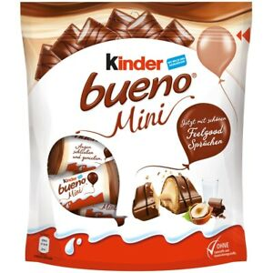 KINDER BUENO MINI 108G 1/3/16 Pack Exp.12.03.21 US Seller/FREE Same Day Shipping