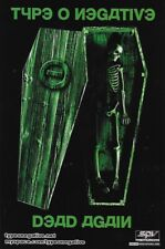 Type O Negative RARE MINT PROMO ONLY DOUBLE SIDED DEAD AGAIN POSTCARD/LOOK!!