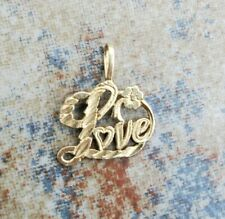 14 KARAT GOLD LOVE PENDANT