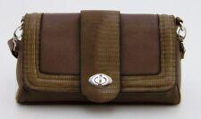 Modische Handtasche Schultertasche graubraun mit schicken Akzenten Leder
