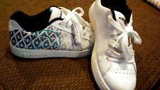 Womens Teens Airwalk Tennis Shoes Sneakers Size 8.5 White Black Teal leather
