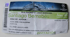 Ticket for collectors CL Real Madrid - Legia Warsaw 2016 Spain Poland VIP