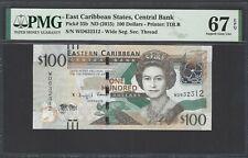 East Caribbean 100 Dollars ND (2015) P55b  Uncirculated Grade 67