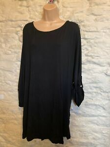 BNWT Evans black oversized  jersey tunic top size 18
