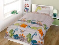 "Rapport Kids Children's ""Dinosaur"" Dino Duvet Cover Bedding Set Natural"