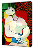 PABLO Picasso The dream Paint Reprint  PRINT ON FRAMED CANVAS WALL ART Decor