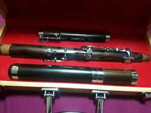 Professional NEW FLUTE D-TONE AFRICAN BLACK WOOD WITH 6-KEYS WITH HARD BOX