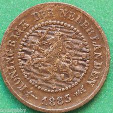 1883 Netherlands  Half Cent 1/2 Cent SNo22036